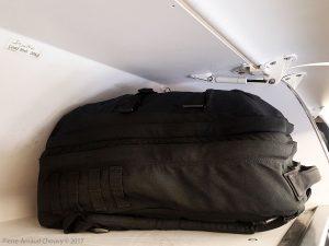 Goruck GR2 (40L) in an overhead plane bin.