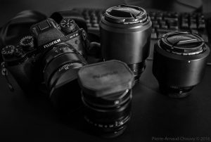 Fuji gear: one X-T2 and four prime lenses: Fujinon 23mm f/1.4, Fujinon 35mm f/1.4, Fujinon 56mm f/1.2, Fujinon 90mm f/2.0.
