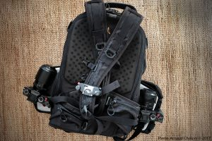 LowePro Pro Tactic 450 AW with two Fuji X-T2 and a Peak Design Capture Pro.